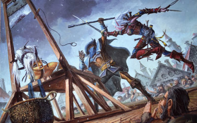 """Open Chapter illustrations for Pathfinder """"InnerSea Intrigue"""": Step by step"""